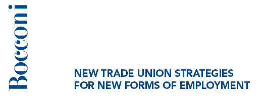 NEW TRADE UNION STRATEGIES FOR NEW FORMS OF EMPLOYMENT - Università Bocconi